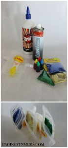DIY foam glitter paint with reusable Sinchies food pouches