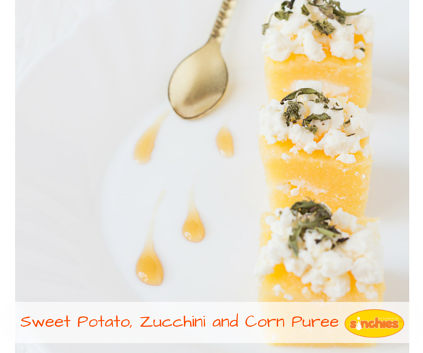 Sweet Potato Zucchini and Corn Puree baby Food