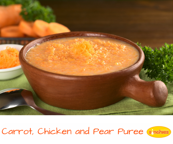 Carrot Chicken and Pear Puree Baby Food