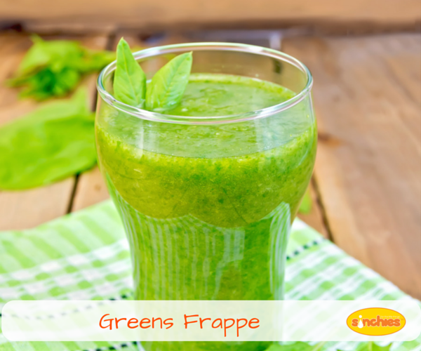 Greens Frappe sinchies reusable pouch recipe