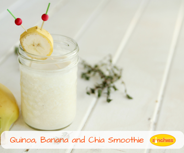 Quinoa banan and chia seed smoothie