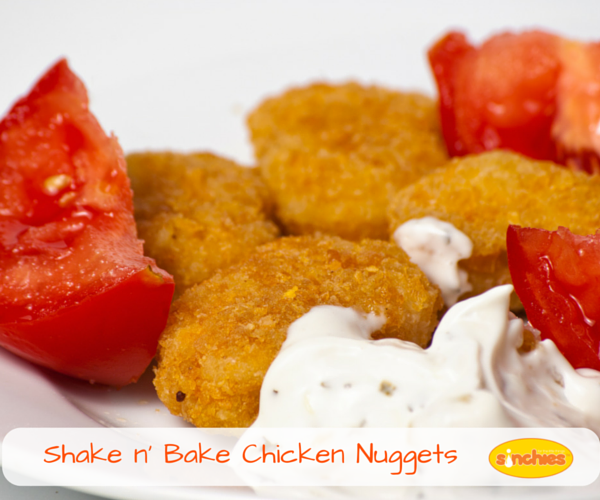 Shake and bake chicken nuggets homemade