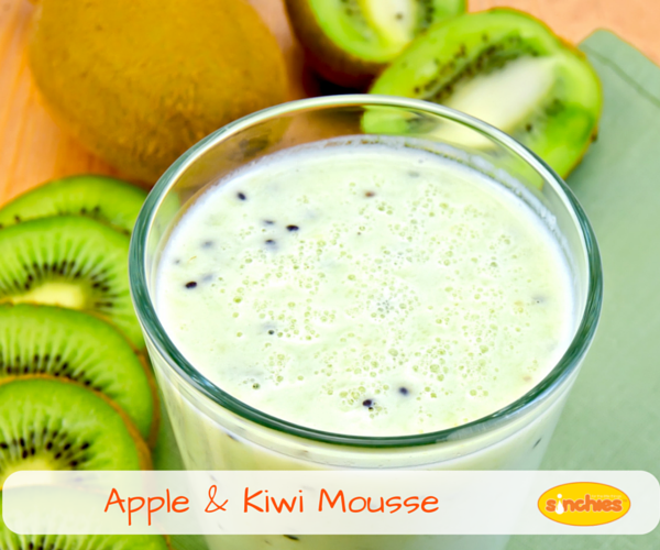 Apple and Kiwi Fruit Mousse Sinchies
