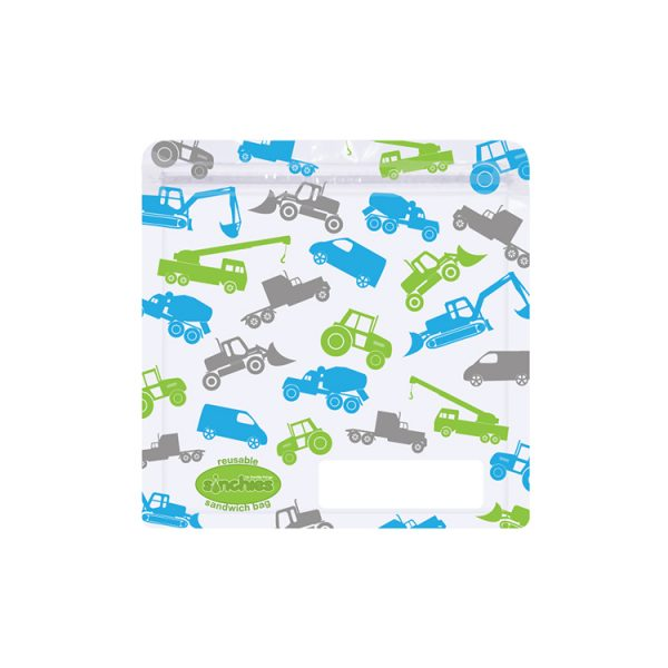 Sinchies trucks reusable sandwich bag