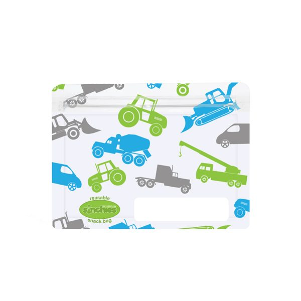 Sinchies trucks reusable snack bag