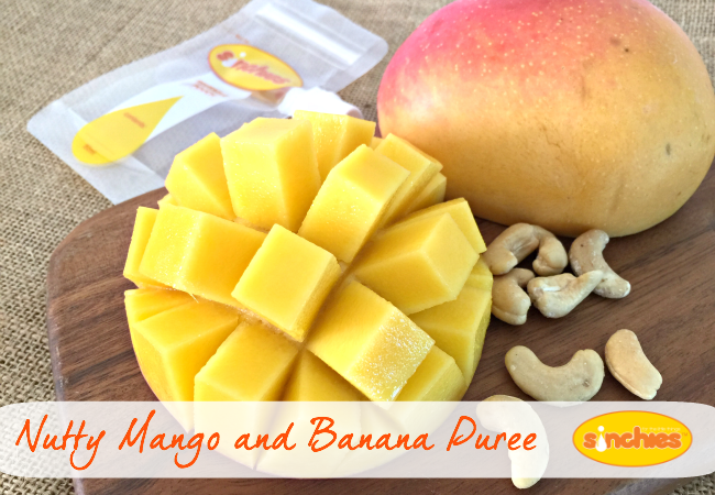 Nutty Mango and Banana Puree