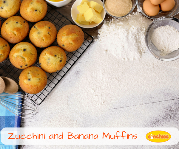 Zucchini and Banana Muffins Recipes