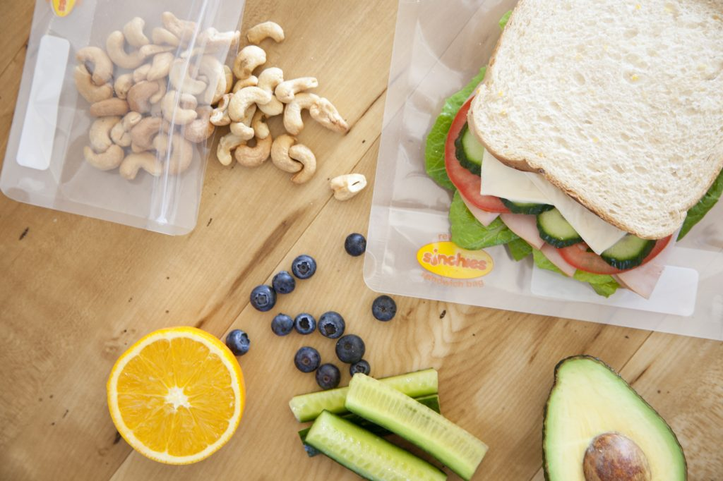 Sinchies reusable ziplock sandwich bag