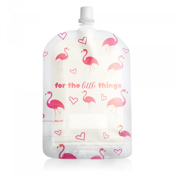 Sinchies 150ml flamingos reusable pouch