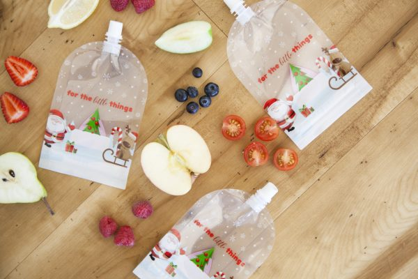 Sinchies Christmas print reusable pouches