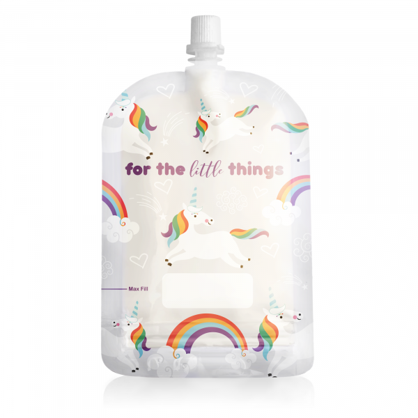 Sinchies 150ml unicorns reusable pouch