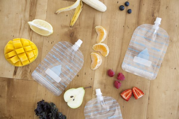 Sinchies reusable yoghurt and smoothie pouches
