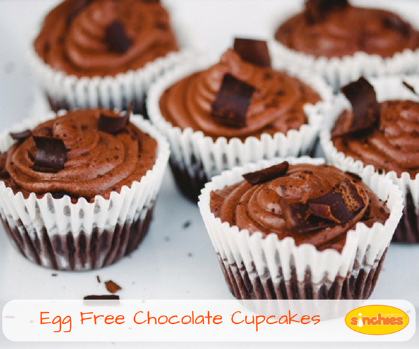 eggless dairy free chocolate cupcakes