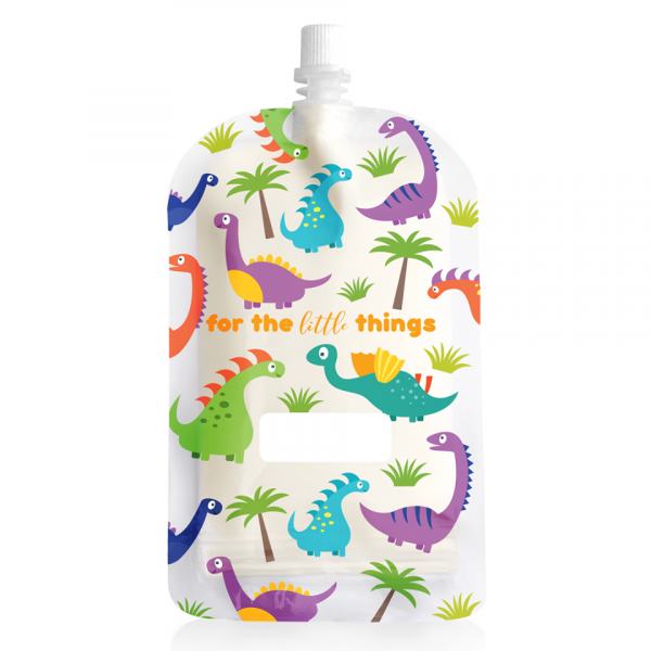 Sinchies 200ml dinosaur reusable pouch