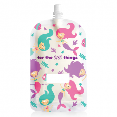 Sinchies 200ml mermaid reusable pouch