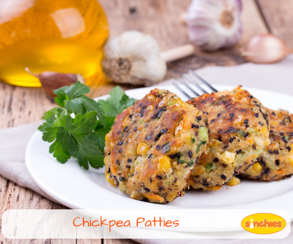 Chickpea Patty Recipe for Babies sinchies