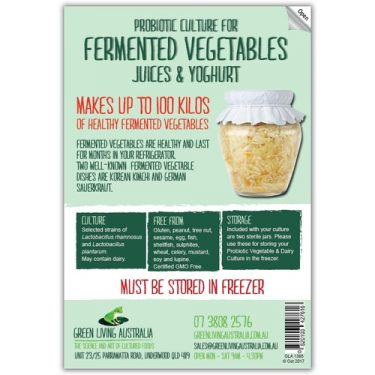 Fermented Vegetable and Dairy Culture