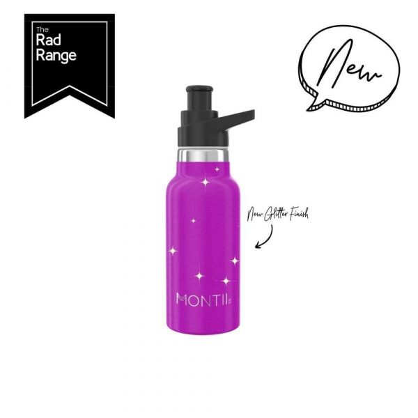 Magenta Glitter Monitii 350ml Stainless Steel