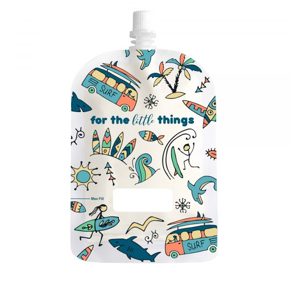 Sinchies 150ml surfing reusable pouch with top spout