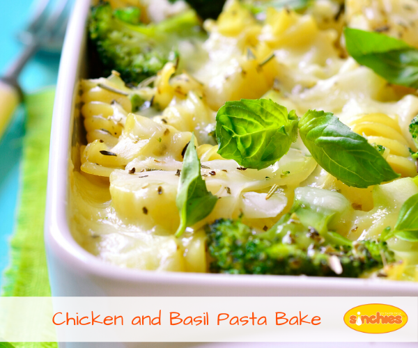 Chicken and Basil Pasta Bake