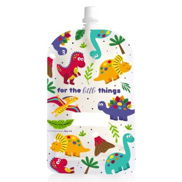 Sinchies 200ml dinosaurs reusable pouch