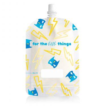 150ml Reusable Food Pouches - Lightning Heros Design